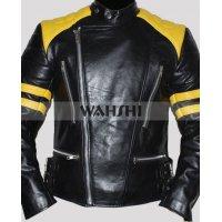 Men Brando Biker Style Leather Jacket