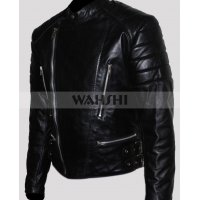 Men's Brando Motorcycle Black Leather Jacket