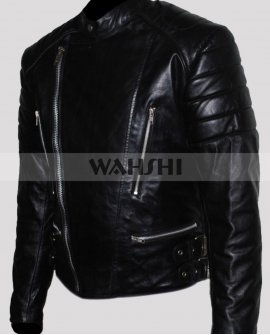 Men's Brando Motorcycle Black Leather Jacket