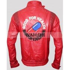Akira Kaneda Pill Cosplay Motorcycle Red Leather Jacket