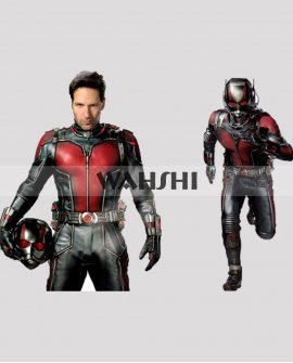 Ant-Man 2015 Paul Rudd Red Leather Jacket