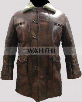 Tom Hardy Dark Knight Rises Bane Distressed Brown Coat