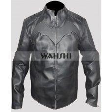 Christian Bale Black Batman Begins Motorcycle Jacket