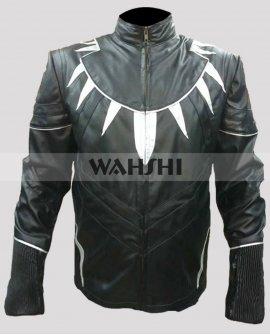 Captain America Civil War Black Panther Leather Jacket