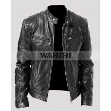 Cafe Racer Retro 2 Vintage Black Leather Jacket