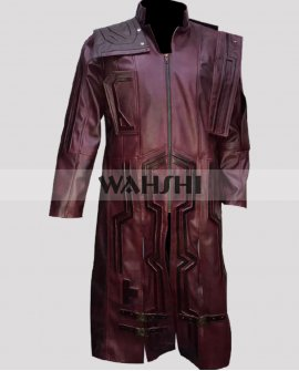 Guardians Of The Galaxy Vol.2 Starlord Leather Coat