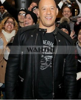 Fast & Furious 8 Black Vin Diesel Leather Jacket Costume