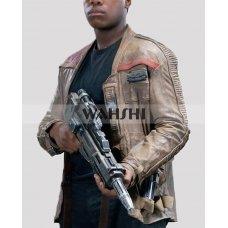 Finn Star Wars Force Awakens Leather Movie Jacket