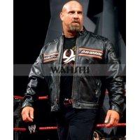 WWE Bill Goldberg Harley Motorcycle Black Leather Jacket
