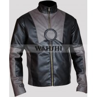 Iron Man 2 Tony Stark Black Leather Jacket Costume