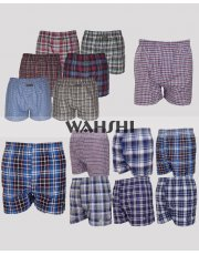 Mens Woven Check Print Boxer Underwear