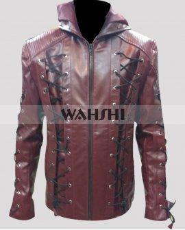 Roy Harper Colton Haynes Arrow Arsenal Red Jacket