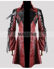 Steampunk Poison Goth Unisex Leather Costume Coat
