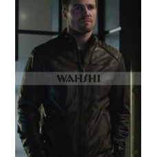 Arrow Oliver Queen Movie Leather Jacket Costume