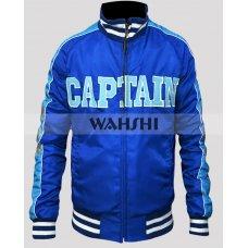 Captain Boomerang Suicide Squad Blue Satin Jacket