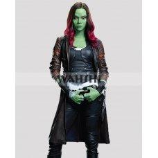 Gamora Guardians Of The Galaxy Vol.2 Zoe Saldana Leather Coat