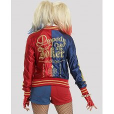 Suicide Squad Harley Quinn Satin Cosplay Jacket